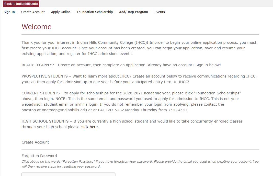 印第安山社区学院邮箱申请