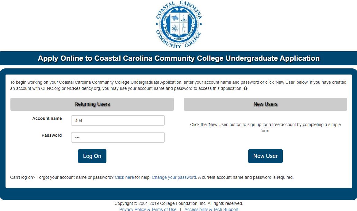 卡罗莱纳州沿海社区学院邮箱申请