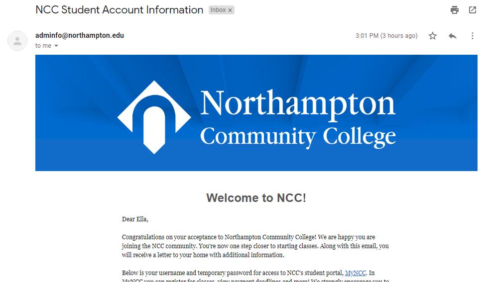 北安普敦社区学院邮箱申请