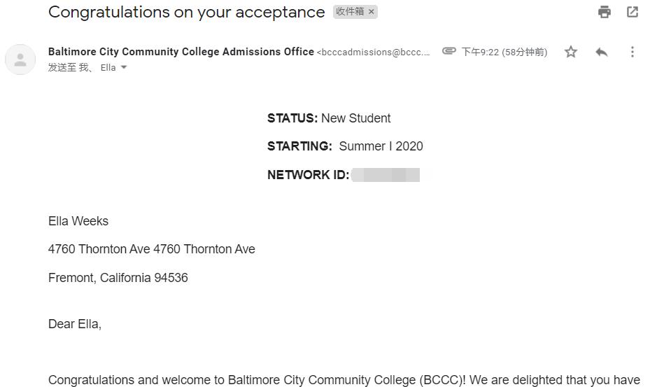 巴尔的摩市社区学院学生邮箱申请